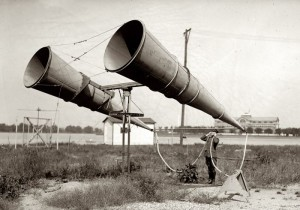 listening ears to detect planes